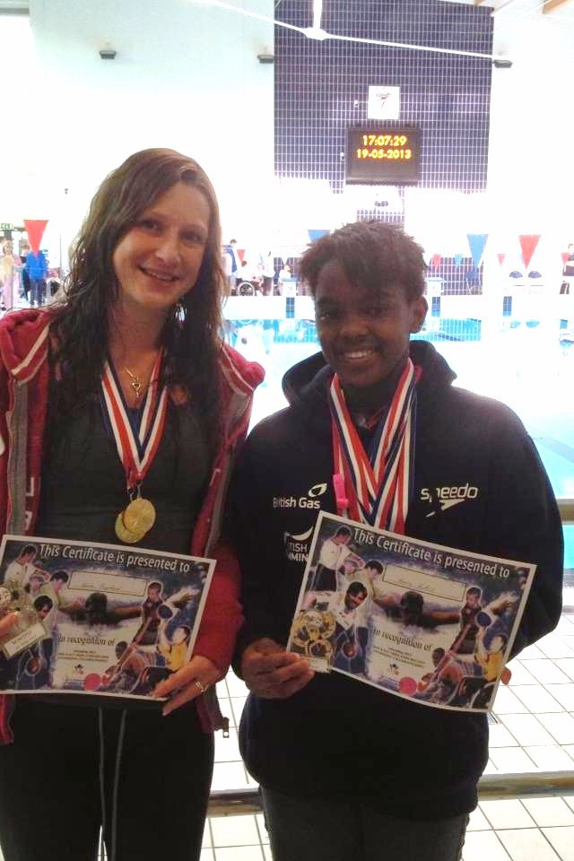 Hasna And Keira At The East Midlands Disability Championships Beeches