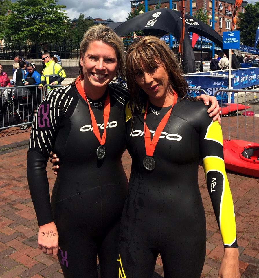 Jenny And Becky At The Manchester Great Swim Beeches